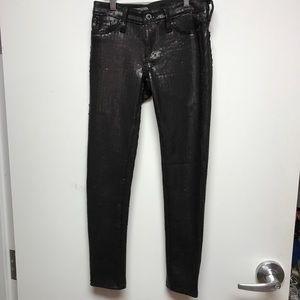 AG 25 Sequin mid-rise legging ankle pants bin4